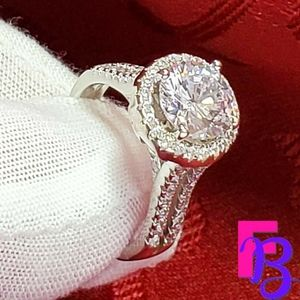 Size 6 3CTW Halo Engagement Ring